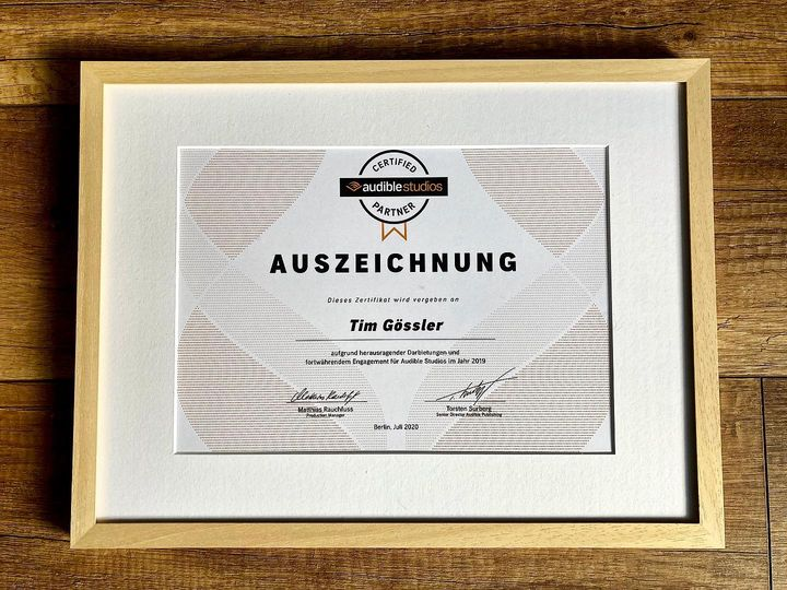Audible Auszeichnung